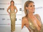 Heidi Klum, Kim Kardashian, Miley Cyrus e outros famosos vão à festa beneficente de Elton John