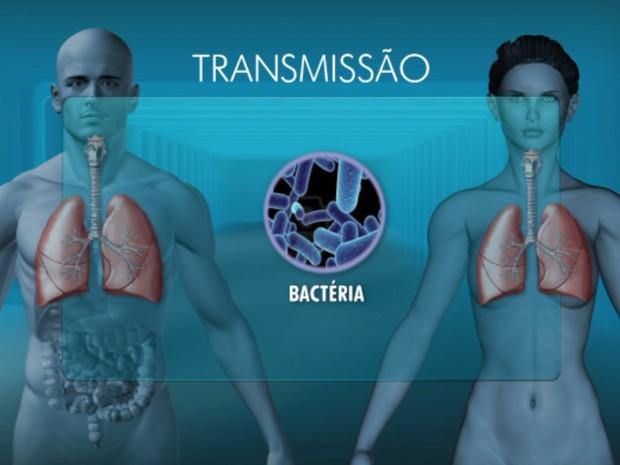 Transmissão da bactéria acontece pela saliva (Foto: Reprodução/EPTV)