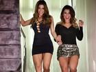 Babi Rossi e ex-BBB Cacau usam figurinos sensuais em gravação