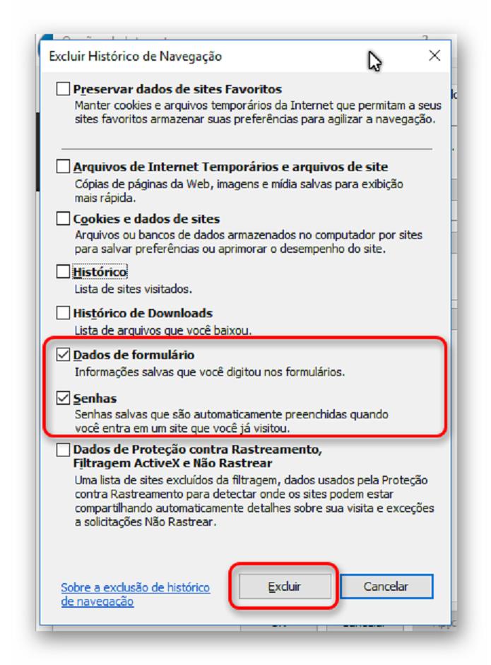 Excluindo informações de login do Internet Explorer (Foto: Reprodução/Helito Bijora)