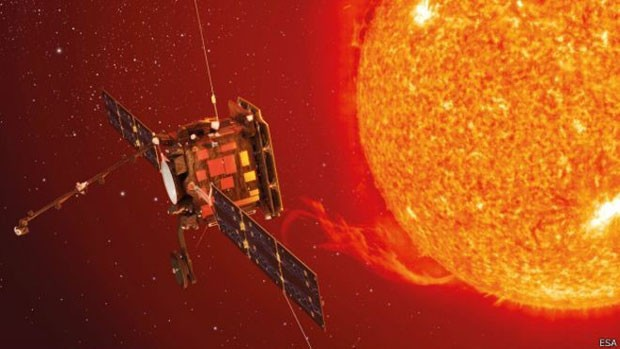 Esta ilustração mostra como será a Solar Orbiter, que será lançada na direção do sol em 2018  (Foto: ESA/BBC)