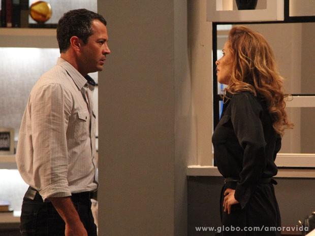 Bruno chama Glauce de assassina (Foto: Carol Caminha/TV Globo)
