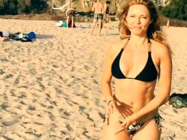 Rita Guedes em praia em Los Angeles, nos Estados Unidos (Foto: Instagram/ Reprodução)