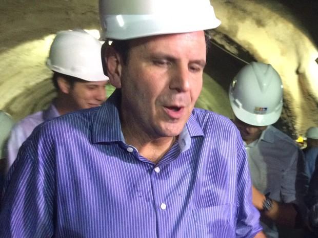 Paes afirmou que prefeitura vai pagar dívida de R$ 28 milhões com governo federal (Foto: Matheus Rodrigues/G1)