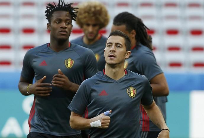 Hazard no treino da Bélgica (Foto:  REUTERS/Eric Gaillard)