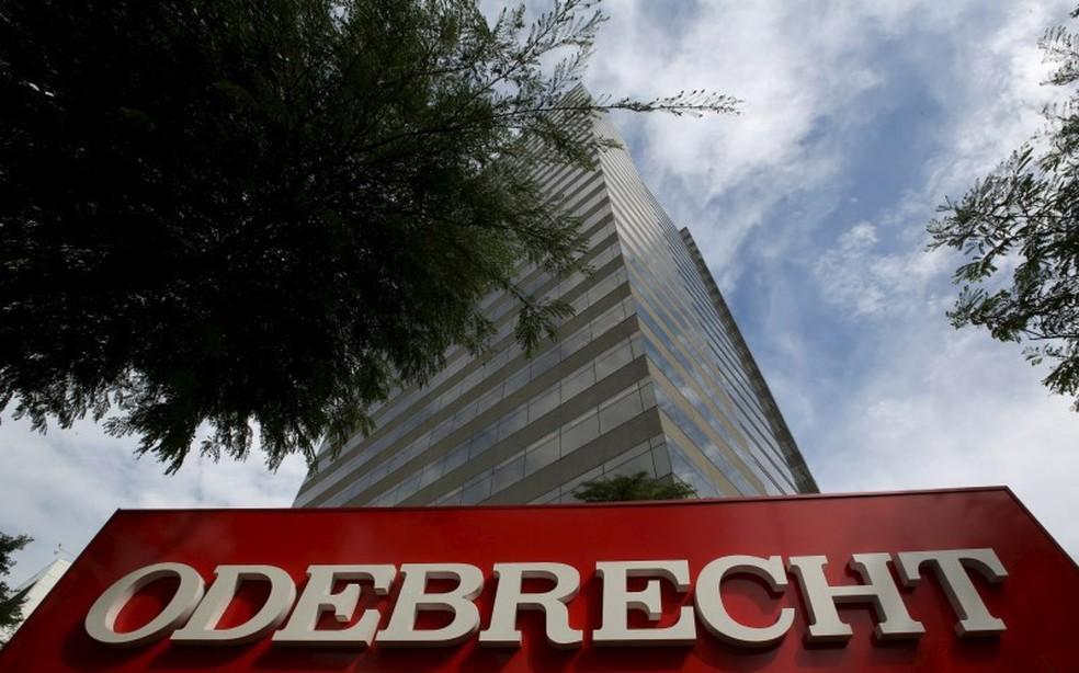 Sede da Odebrecht em São Paulo (Foto: Paulo Whitaker/Reuters)