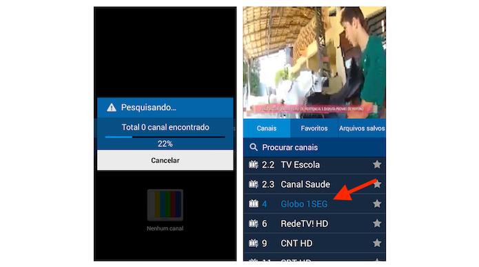 Iniciando as opções para um canal de TV no Galaxy Gran Prime (Foto: Reprodução/Marvin Costa)