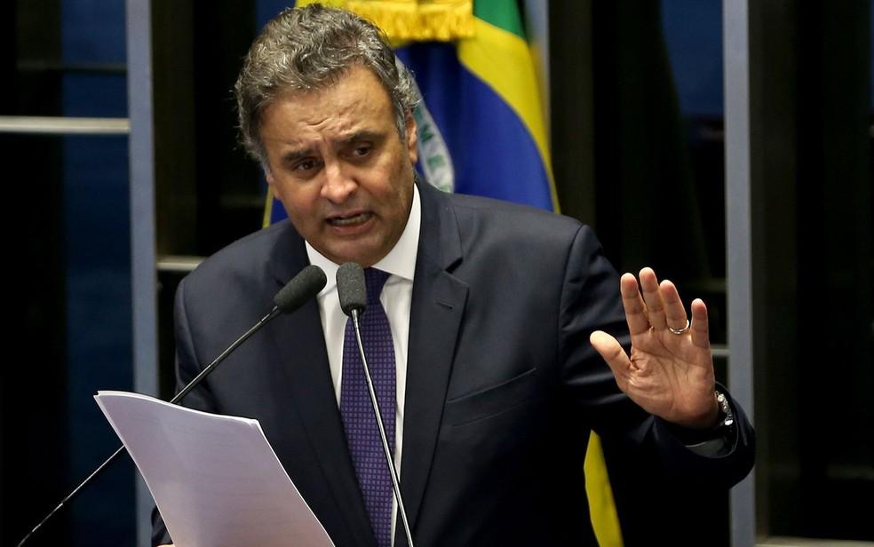 O senador Aécio Neves (PSDB-MG), atualmente afastado do mandato parlamentar (Foto: Wilson Dias/Agência Brasil)