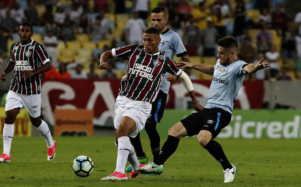 Em 58 jogos, Richarlison marcou 15 gols pelo Fluminense (Foto: NELSON PEREZ/FLUMINENSE F.C.)