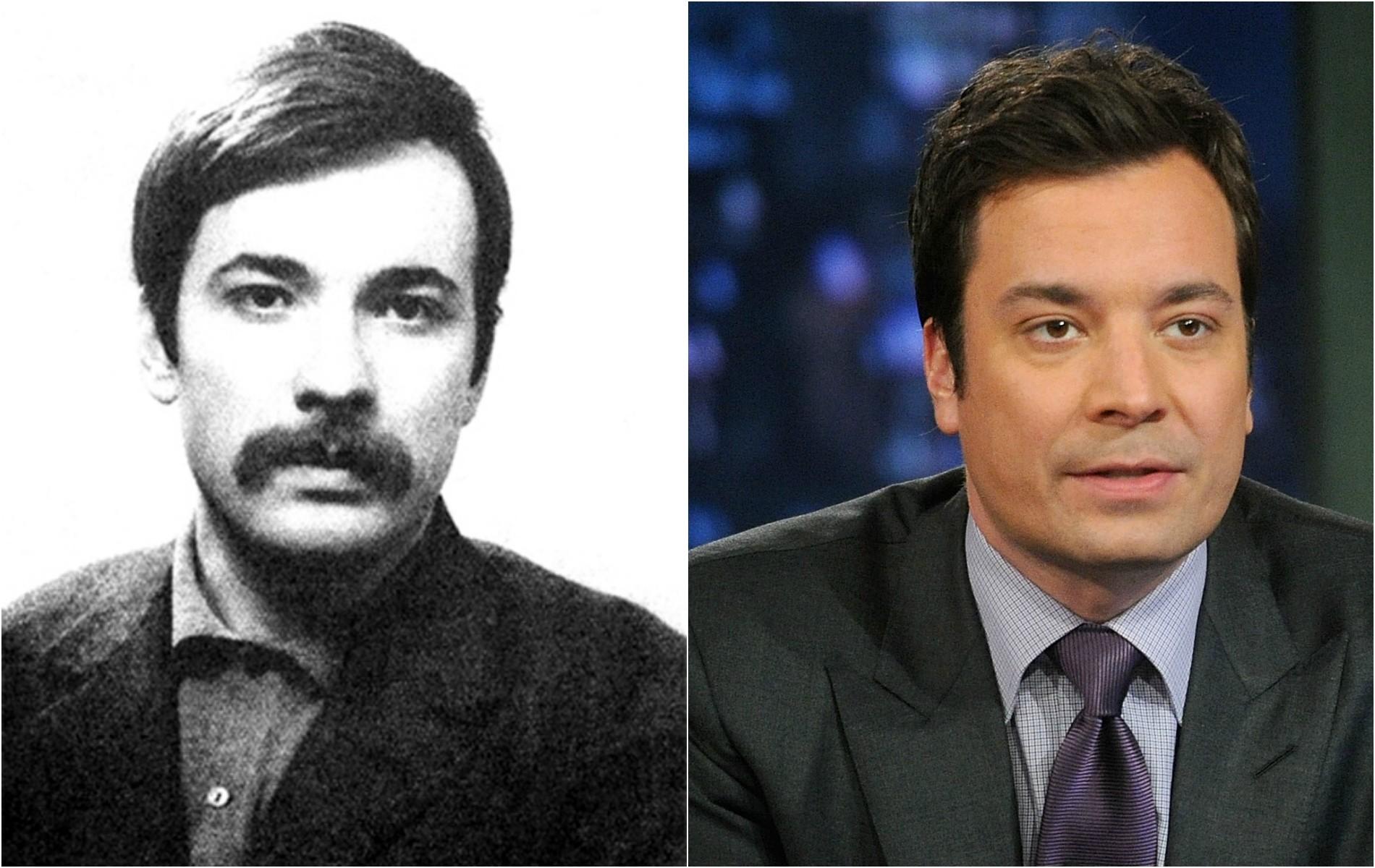 O apresentador e humorista Jimmy Fallon e o líder marxista turco Mahir Çayan (1946-1972). (Foto: Reprodução e Getty Images)