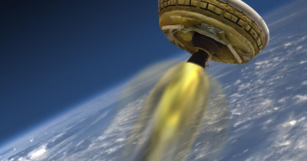 Nasa testa paraquedas supersônico em lançamento de 'disco voador'