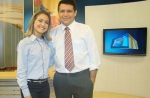 Aline Moreira e Marcelo Magno (Foto: Katylenin França/TV Clube)