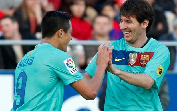 messi sanchez barcelona gol mallorca (Foto: Agência Reuters)