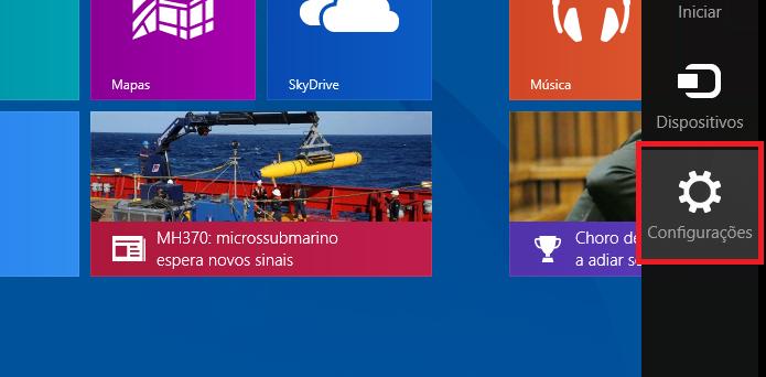 Acessando as Configurações do Windows (Foto: Reprodução/Edivaldo Brito)