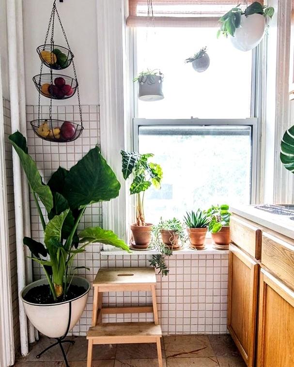 Canto verde na cozinha. Fica lindo, né? (Foto: Reprodução/ Instagram @casaquetem)