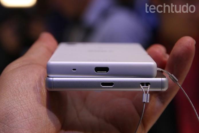 Diferença entre os modelos lançados pela Sony (Foto: Fabricio Vitorino/TechTudo)