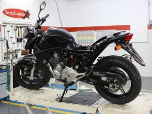 Cuidados mecânicos com as motos (Foto: Rafael Miotto/G1)