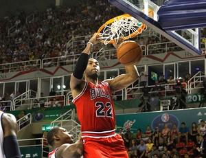 basquete jogo NBA Bulls x Wizards (Foto: Marcelo Carnaval / Ag. O Globo)