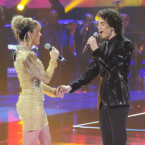 Claudia Leitte e Sam Alves, na grande final do 'The Voice Brasil' (Foto: Divulgação)