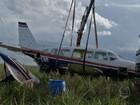 Peças de avião onde estavam Huck e Angélica são levadas para empresa