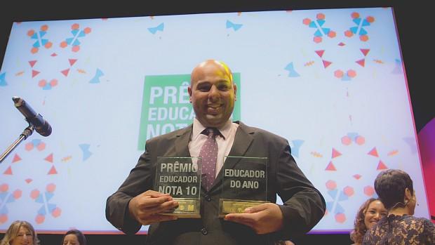 Diego Lima é eleito o Educador Nota 10 de 2015 (Globo)
