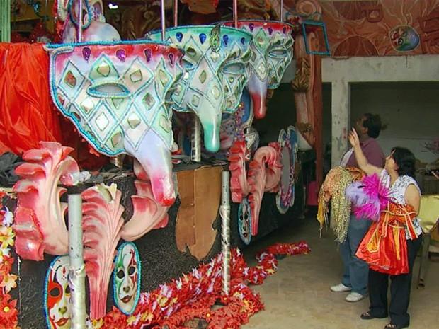 Carnaval de rua é cancelado em Santa Rita do Sapucaí. (Foto: Reprodução EPTV)