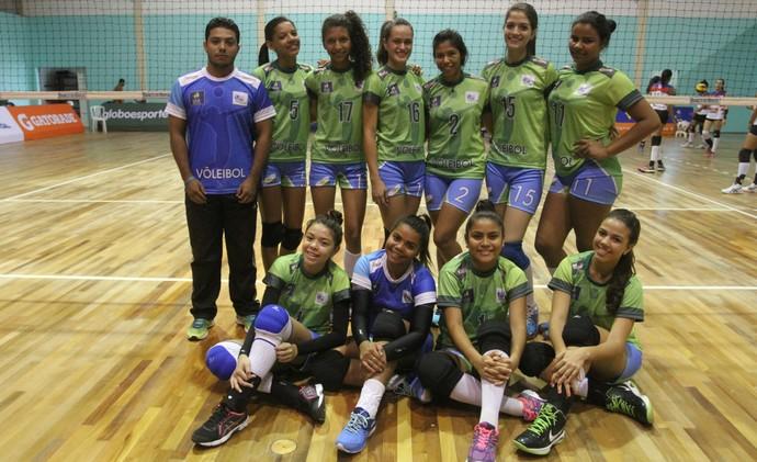 Seleção de Roraima perdeu apenas na estreia para a invicta Bahia (Foto: Divulgação/Confederação Brasileira de Vôlei)