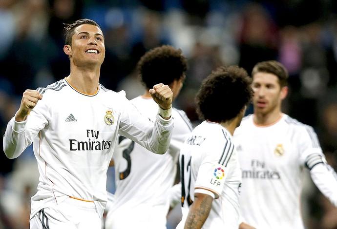 Cristiano Ronaldo comemoração gol Real Madrid jogo Celta (Foto: EFE)