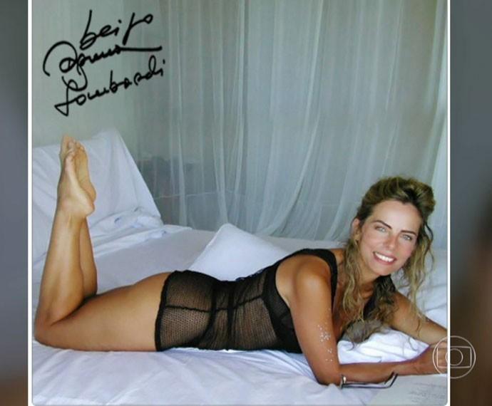 Bruna Lombardi se surpreendeu com a repercussão dessa foto (Foto: Arquivo Pessoal)
