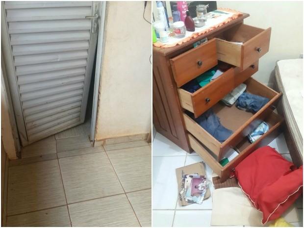 Casa de agente penitenciário é invadida no bairro Rosa Linda, em Rio Branco (Foto: Arquivo pessoal)