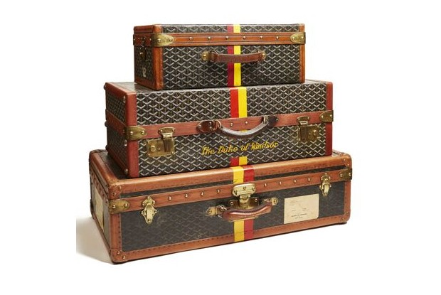 The Duke and Duchess of Windsor's luggage set, by Goyard (c. 1950), Miottel Museum, Berkeley, California (Foto: IMAGE COURTESY OF THE PEABODY ESSEX MUSEUM, SALEM MASSACHUSETTS)