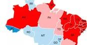 O desempenho em cada estado (Saiba o desempenho em cada estado (Veja o desempenho em cada estado (Editoria de Arte/G1)))