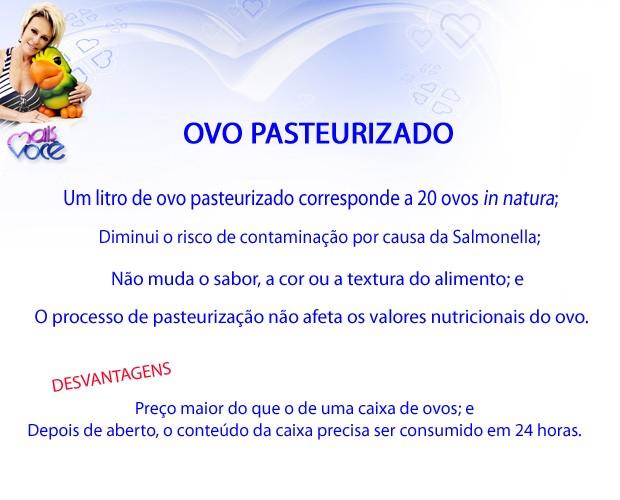 Ovo pasteurizado Mais Você (Foto: Mais Você/ TV Globo)
