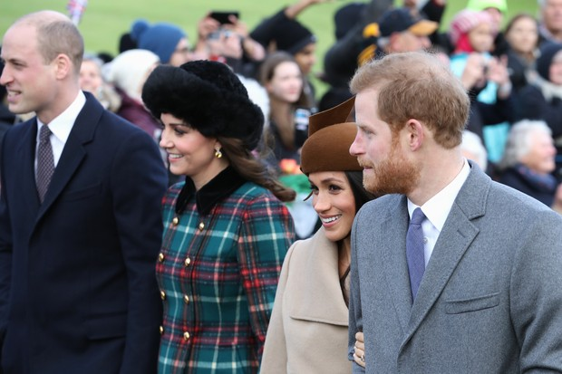 Princípe William, Kate Middleton, Meghan Markle e Príncipe Harry (Foto: Getty Images)