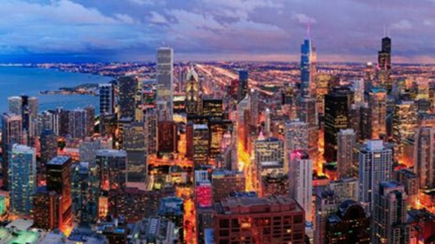 Vista noturna de Chicago (Foto: Divulgao)