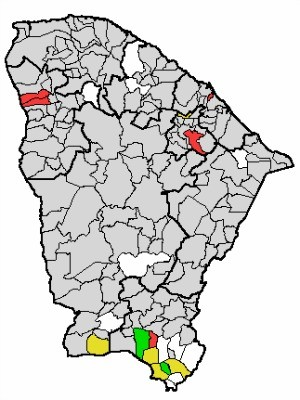 Chuvas ocorreram principalmente no Sul do estado (Foto: Funceme)