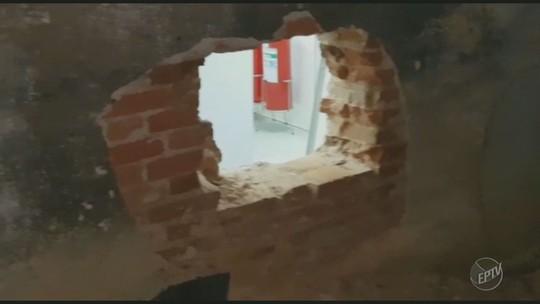 Quadrilha quebra parede de banco, arromba cofre e foge sem o dinheiro