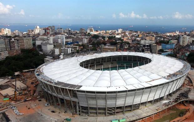 Cobertura estádio Fonte Nova (Foto: Manu Dias / GOVBA)