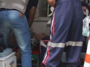 Mulher chegou a ser atendida, mas não resistiu aos ferimentos (Foto: Site Repórter na Rua/ Arquivo Pessoal)