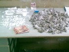 Dupla é presa com porções de drogas em Araçoiaba da Serra