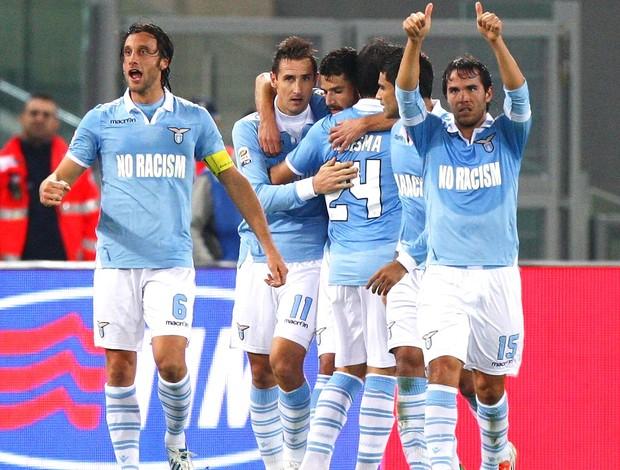 Comemoração da Lazio contra a Udinese (Foto: Getty Images)
