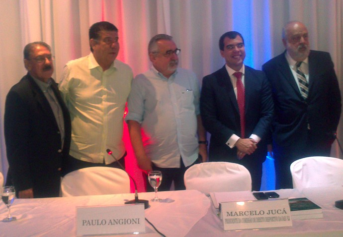 Americo Faria, Joel Santana e Paulo Angioni na OAB (Foto: Felipe Schmidt)