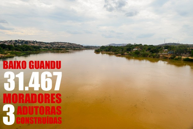 Dados Baixo Guandu (Foto: Arte/ G1)