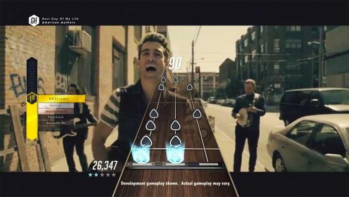 Guitar Hero TV é o modo online com clipes jogáveis (Foto: Divulgação/Activision)
