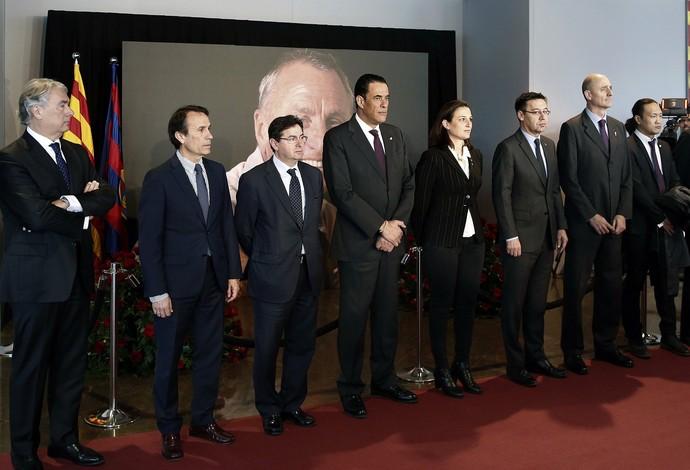 Diretoria Barcelona Memorial Cruyff (Foto: Efe)