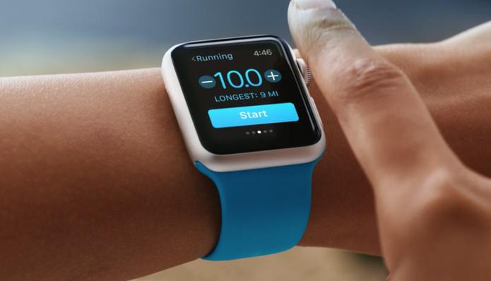 O Apple Watch permite configurar metas  (Foto: Reprodução/Apple)