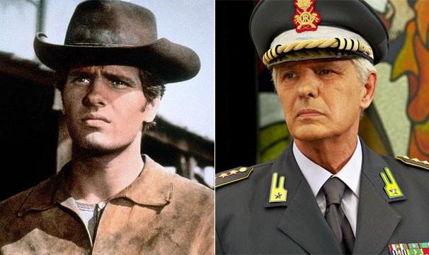 O italiano Giuliano Gemma ficou conhecido por seus papéis em filmes de faroeste italiano; o ator morreu, aos 75 anos, vítima de um acidente rodoviário (Foto: Divulgação/Reprodução)