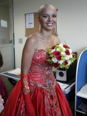 Francilva Almeida Leite momentos antes da cerimônia (Foto: Romulo de Sousa/G1 AM)