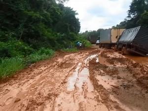 BR-156 Amapá Oiapoque (Foto: Reprodução/Rede Amazônica no Amapá)