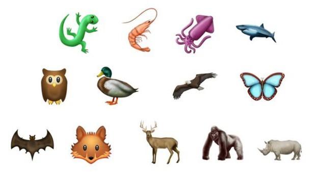 Na categoria natureza, foram incluídos emojis de animais como coruja, morcego e tubarão (Foto: Divulgação/Emojipedia)